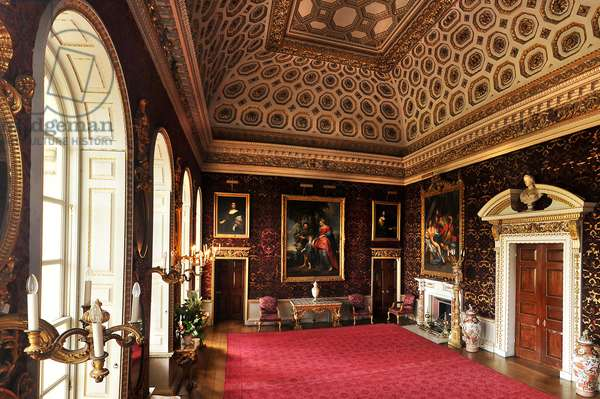 Interior view of the Saloon, Holkham Hall, Norfolk (photo)
