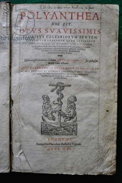 Titlepage of 'Polyanthea' by Dominicus Nannus Mirabellius, Lyon, 1600