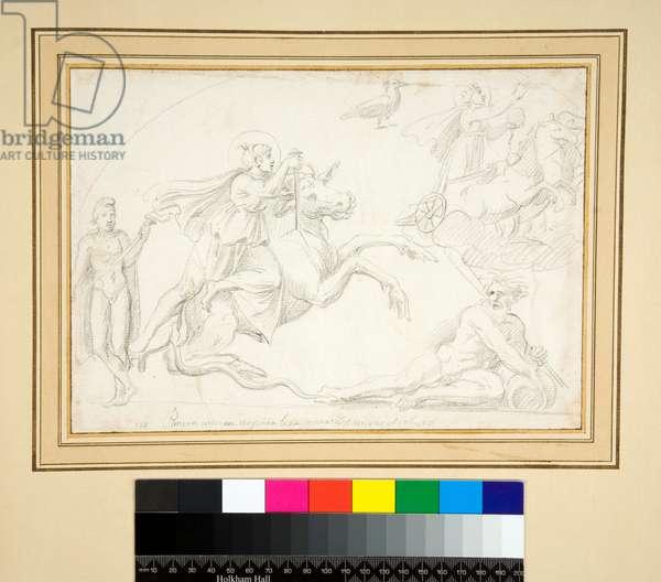 Mithraic scene (pencil)