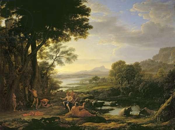 Apollo flaying Marsyas (oil on canvas)