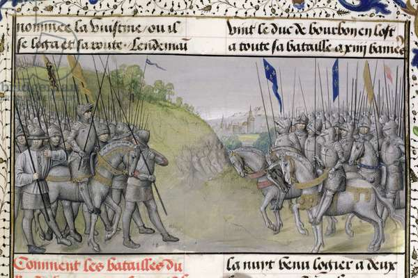 Ms 659 f.204 r. The French Army Defeats the Flemish at Cassel in 1328, 1477 (vellum)