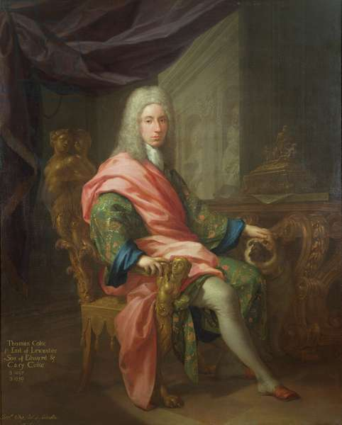 Thomas Coke (b.1698) 1st Earl of Leicester (of the First Creation) (oil on canvas)