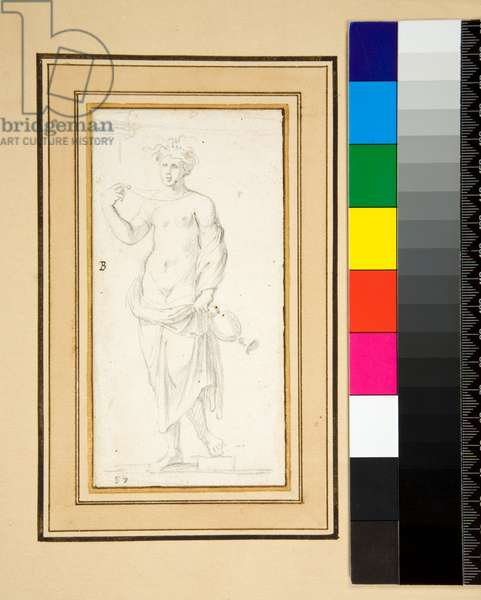 Female figure with vase (pencil)