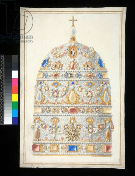 A Papal Tiara (watercolour)