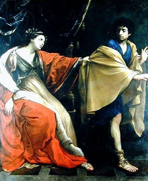 Joseph and Potiphar's Wife (oil on canvas)
