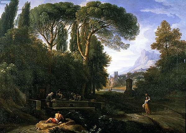 Classical Landscape (oil on canvas)