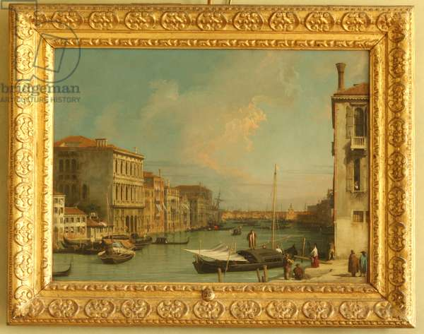 View on the Grand Canal, Venice, from Campo S. Vio (oil on copper)