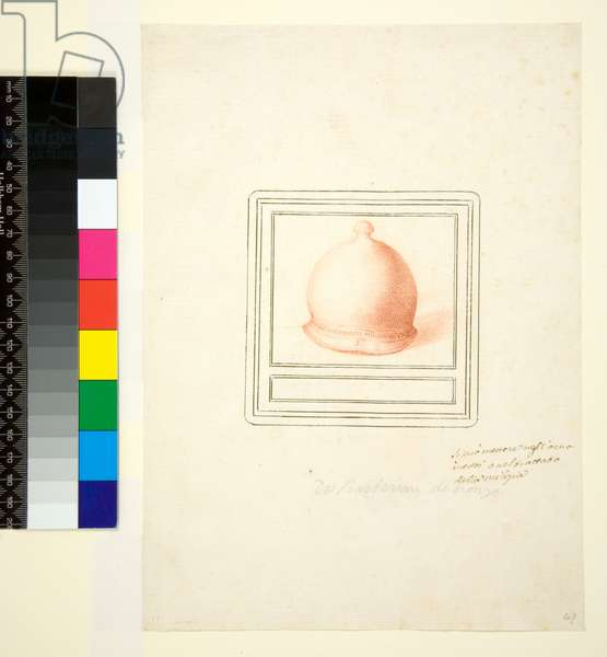 Helmet, 1700-1750 (red chalk)