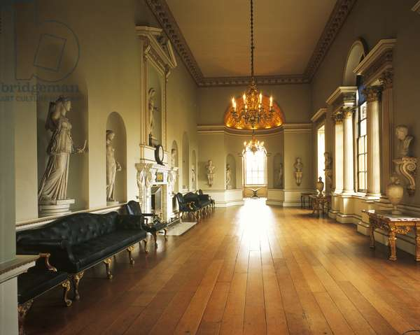 Holkham Estate, View of the Sculpture Gallery, Norfolk (photo)