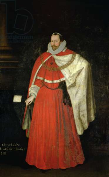 Edward Coke, Lord Chief Justice (oil on panel)