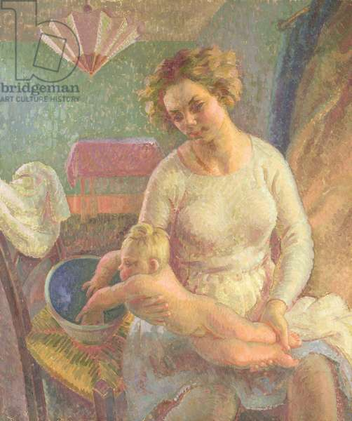The Infant: portrait of the artist's wife and her daughter, c.1933