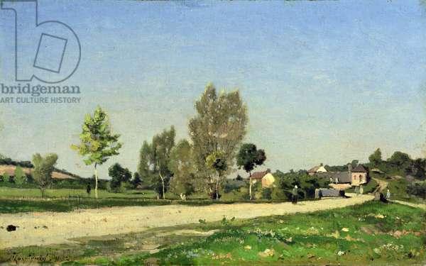A Village Roadway, 1891 (oil on canvas)