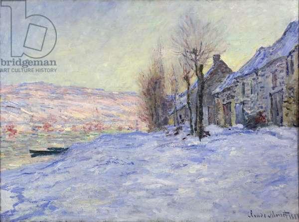 Lavacourt under Snow, 1881 (oil on canvas)