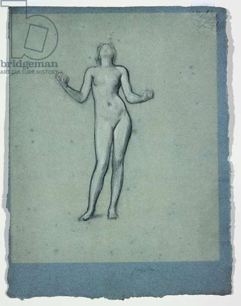 Study of a Nude Figure (Juggler) (chalk on paper)