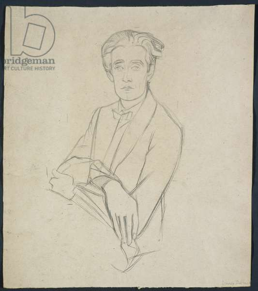 Study for Portrait Drawing of Lennox Robinson (pencil on paper)