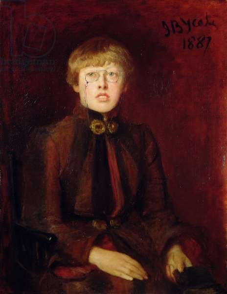 Katherine Tynan Hinkson, 1887 (oil on canvas)