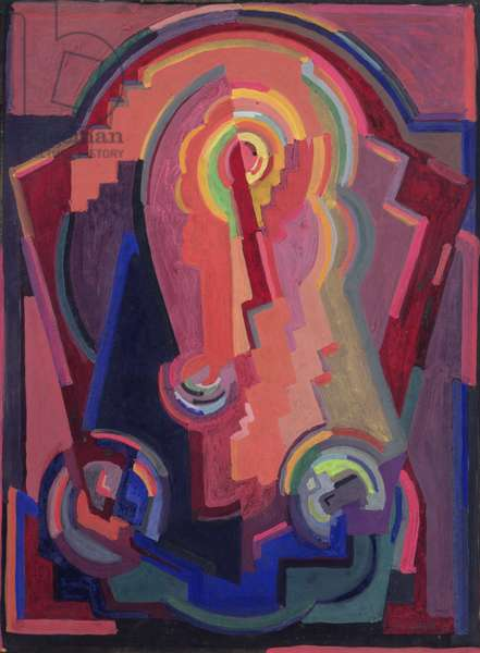 Composition, 1930 (gouache on paper)