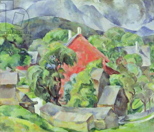 Landscape with Red Gable, 1929 (oil on canvas)