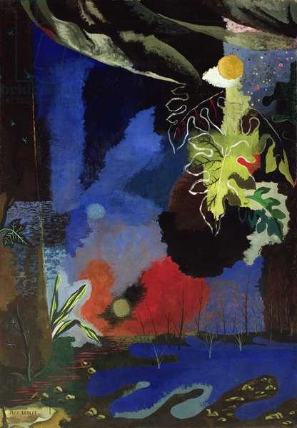 Decorative Landscape (oil on canvas)