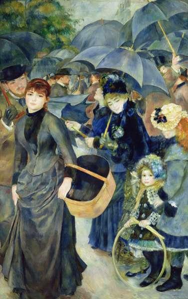Les Parapluies, 1886 (oil on canvas)