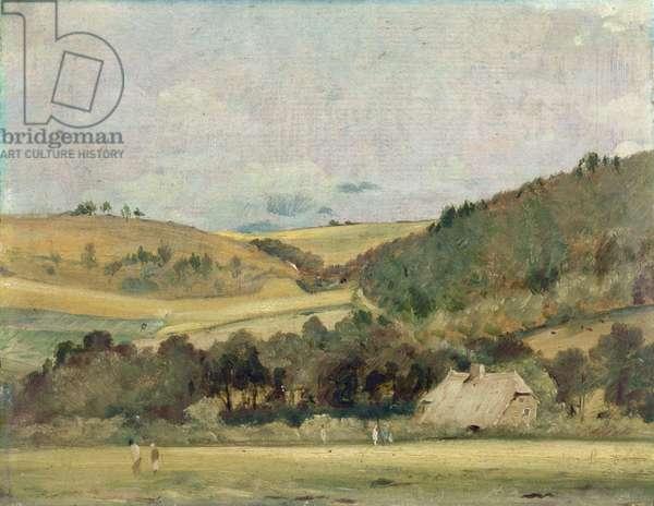 A View Near Arundel, 1837 (oil on cardboard)