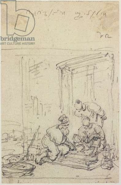 Study of Figures, 18th/19th century (pencil on paper)