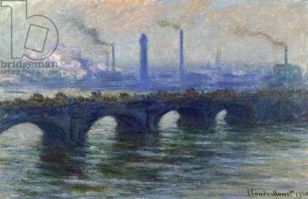 Waterloo Bridge, London, 1900 (oil on canvas)