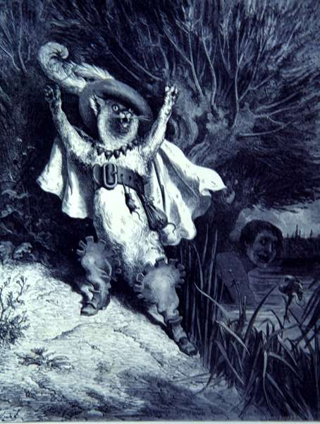 Puss in Boots, The Fairy Realm, story, by Gustave Dore, 1862.