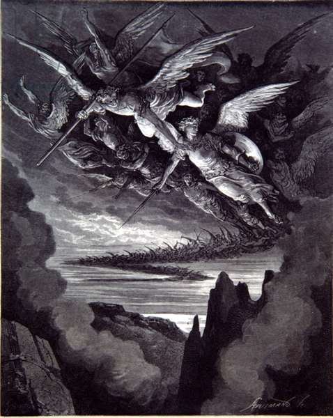 Fallen Angels- Milton's Paradise Lost by Gustav Dore. 19th cent.