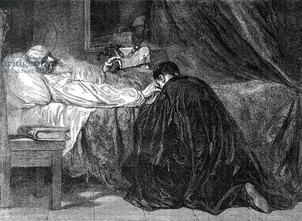 Death of Columbus, 1877 (engraving)