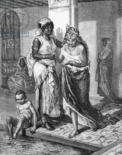 Public Baths or Hamman Morocco, 1884 (engraving)