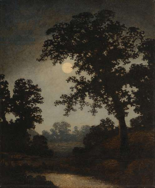 The Poetry of Moonlight, c.1880-90 (oil on canvas)