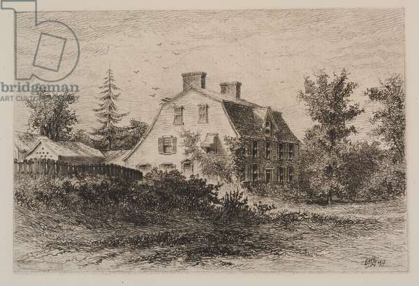 The Old Manse, 1879 (etching on paper)