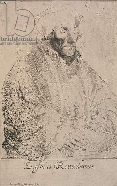 Erasmus of Rotterdam, c.1620 (etching on paper)