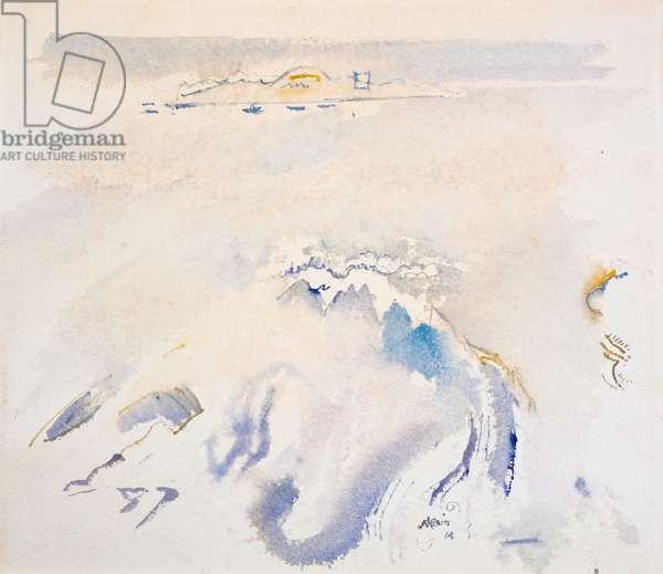Casco Bay, 1914 (w/c on paper)