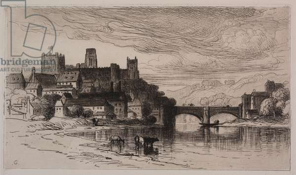 Durham, England (etching on paper)