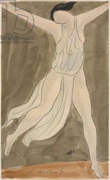 Isadora Duncan, c.1911 (w/c & ink on paper)