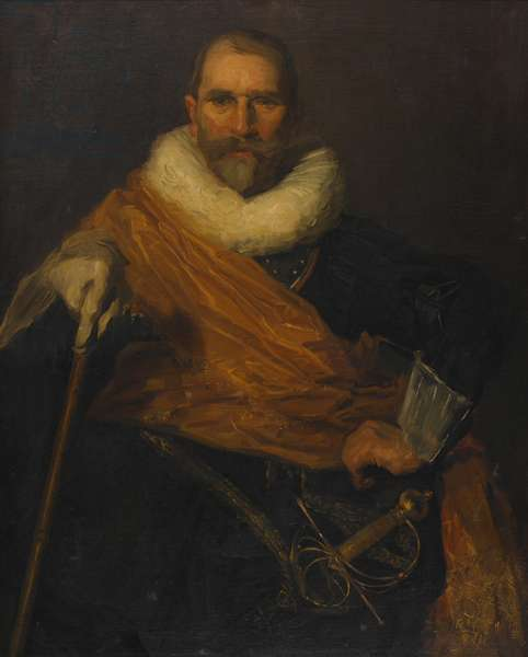 Self Portrait as Colonel Johan Claeszoon Loo, 1903 (oil on canvas)