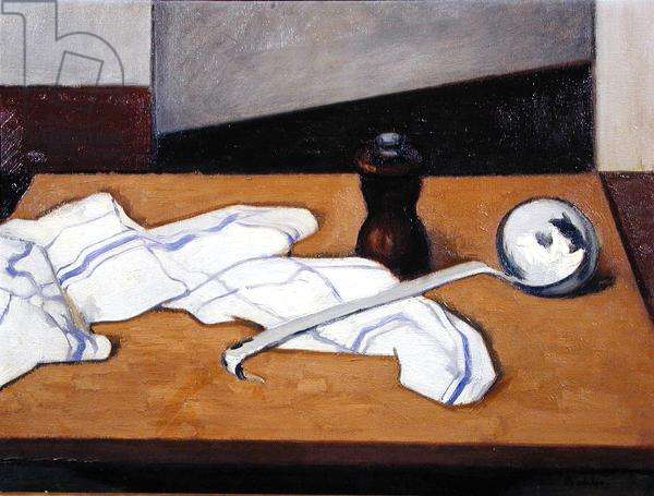 Still Life with Ladle, 1970 (oil on canvas)