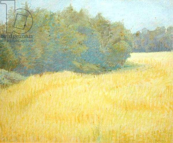 Cornfield in Summer, 1944 (pastel on paper)