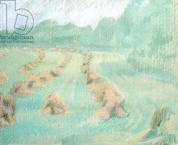 Harvest Time, 1944 (pastel on paper)