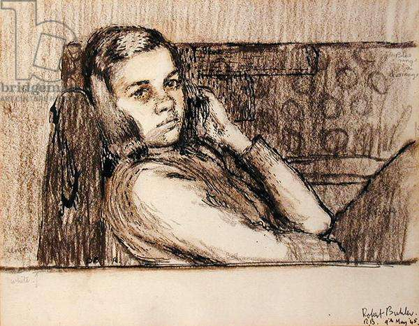 Eve Buhler, 1943 (mixed media on paper)