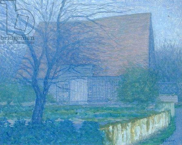 Barn, Bridgham Farm, 1977 (oil on canvas)
