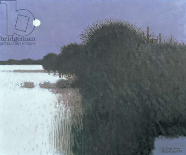 Night Landscape with Snow, 1979 (oil on canvas)