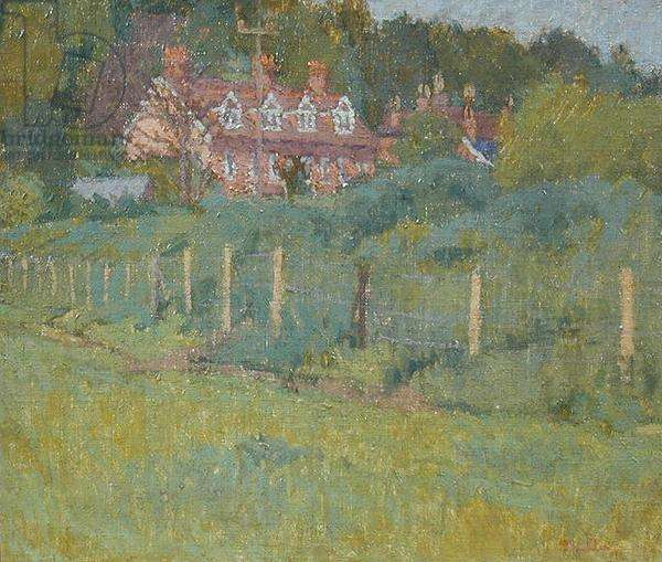 Red House Cottages, 1943 (oil on board)