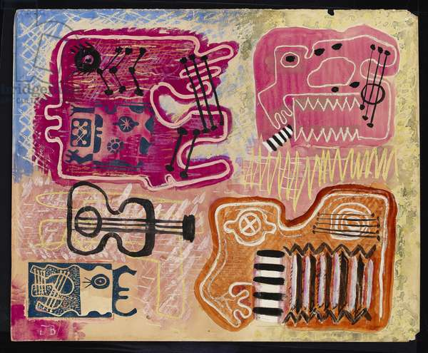 Musical abstract, c.1930s (mixed media)