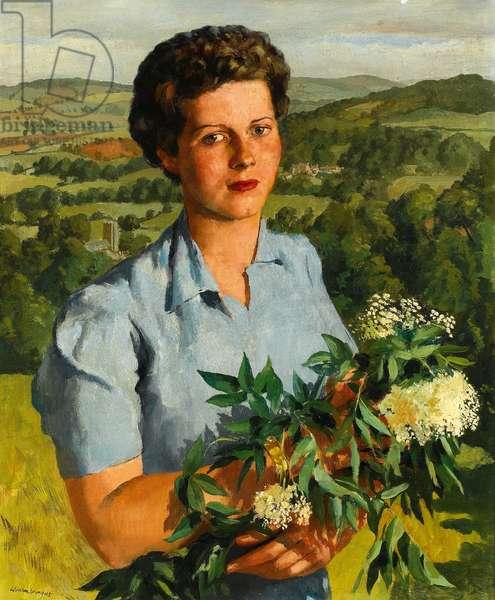 Windy Ridge, Compton - Miss Madeleine Henson, 1945 (oil on canvas)