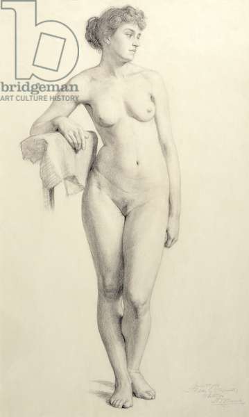 Life Study, 1893 (pencil on paper)