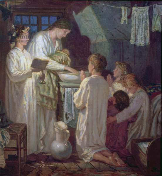 Tess Baptises her Dying Infant, 1933