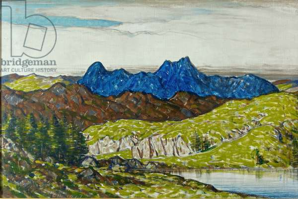 Langdale Pikes, 1917 (oil on canvas)
